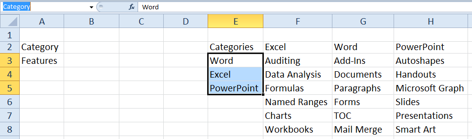 Cascading Combo Boxes in Excel | The Office Corner