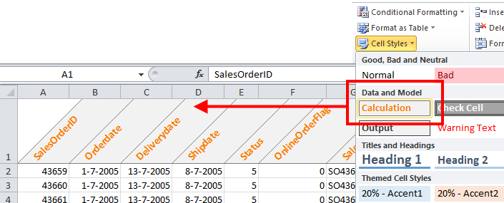 Excel: How To Create Diagonal Headers | The Office Corner