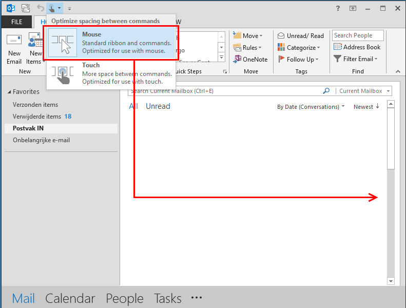 remove email bar on right side of outlook 2013 the