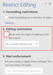 Restrict Editing III